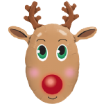 "36"" Red Nosed Reindeer"